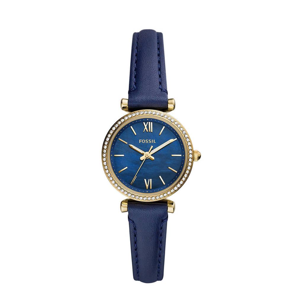 Fossil horloge ES5017 Carlie Mini Goud, Blauw/goudkleurig