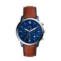 Fossil horloge FS5791 Neutra Chrono Blauw, Bruin/blauw