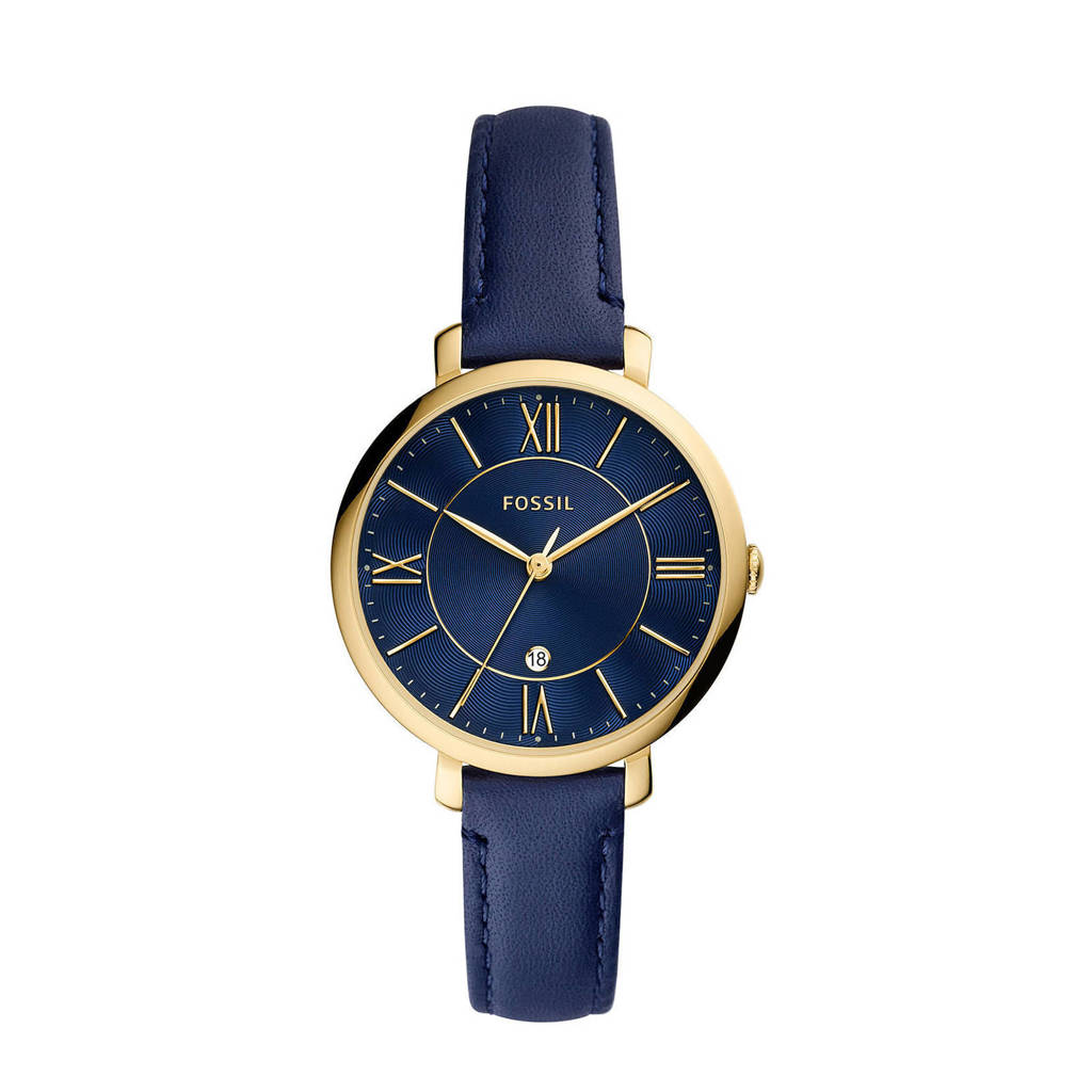 Fossil horloge ES5023 Jacqueline Goud, Blauw/goud