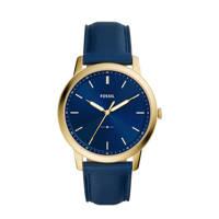 Fossil horloge FS5789 The Minimalist 3H Goud, Blauw/goud
