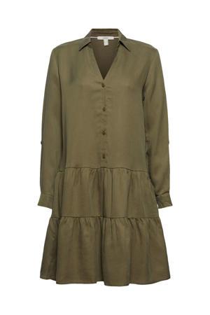 A-lijn jurk met volant groen