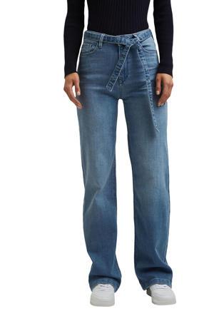high waist loose fit jeans met biologisch katoen light denim