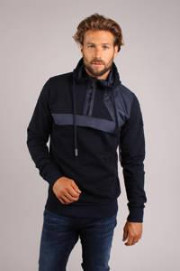 GABBIANO sweater halve rits blauw, Blauw