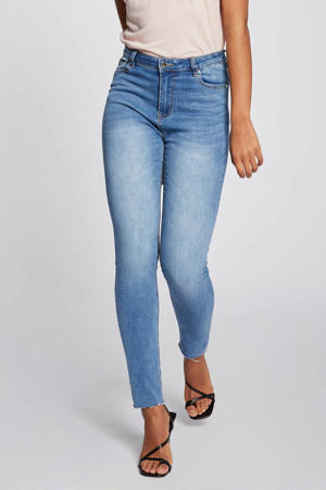 high waist slim fit jeans light blue