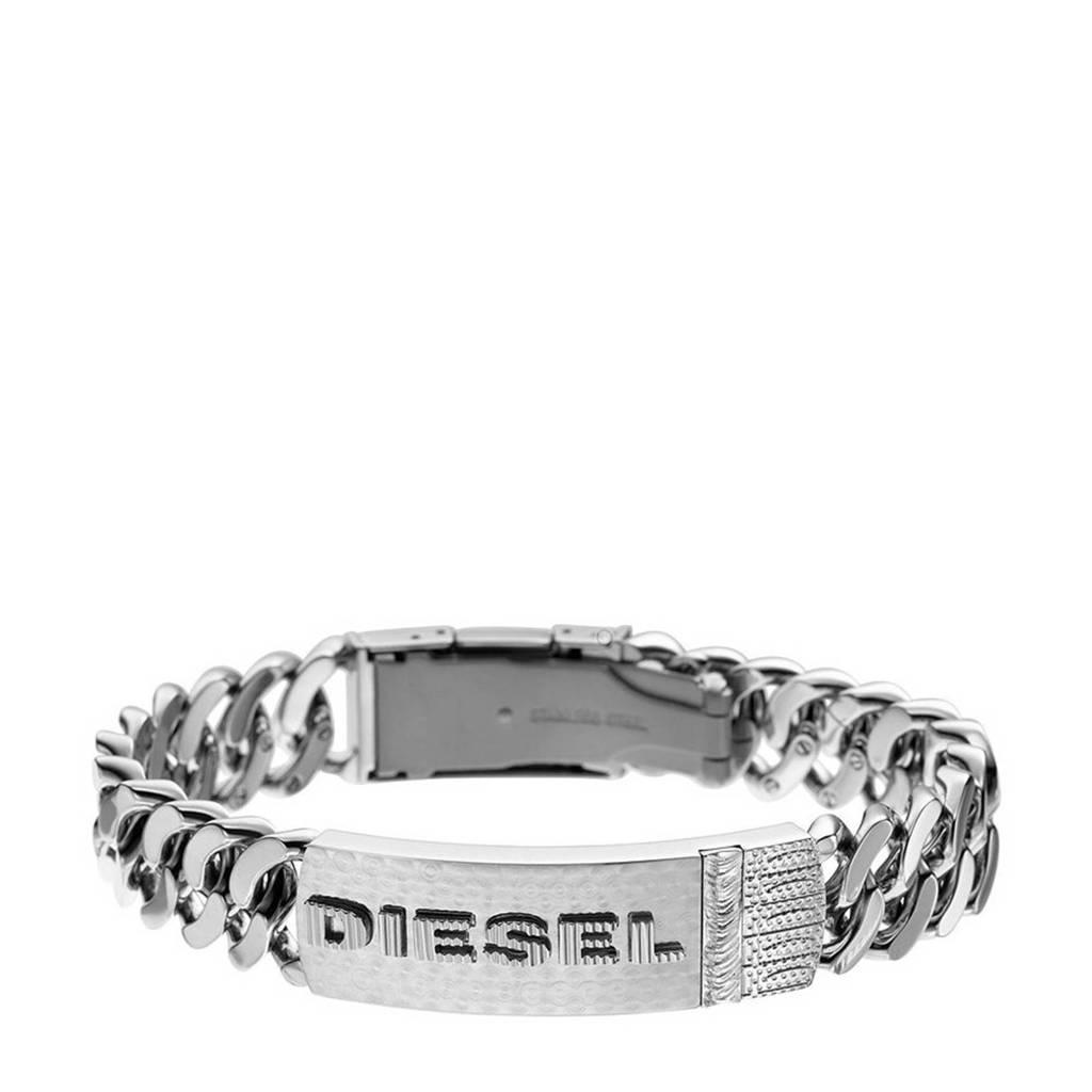 Diesel armband DX0326040 zilver, Zilver