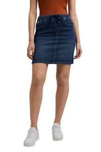 edc Women mini rok met biologisch katoen dark blue denim, Dark blue denim