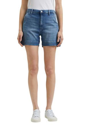 jeans short met biologisch katoen blauw