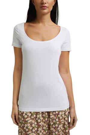 basic T-shirt met biologisch katoen wit
