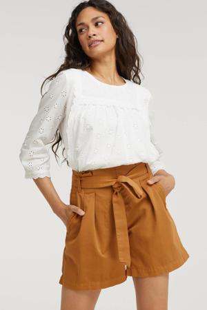 high waist straight fit short bruin