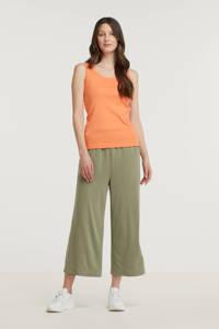 ESPRIT Women Casual high waist culotte groen, Groen
