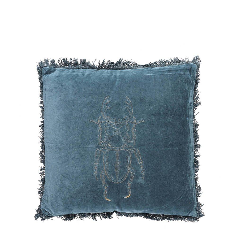 Mica Decorations sierkussen Beverley (45x45 cm), Blauw
