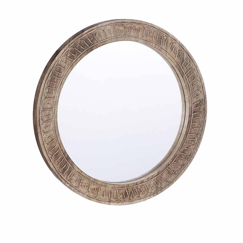 Mica Decorations spiegel (Ø35 cm)   (0x35 cm), Bruin