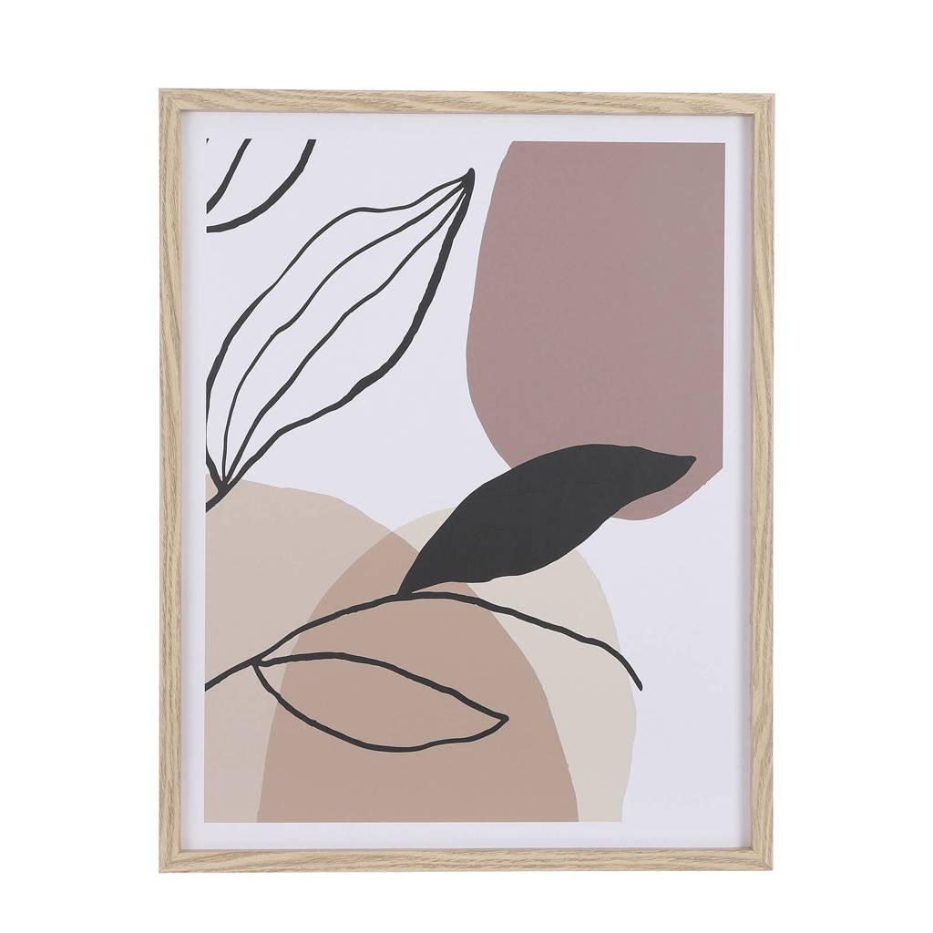 Mica Decorations schilderij  (45x57 cm), Bruin