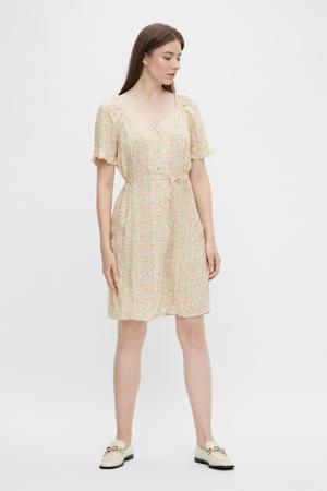 gebloemde jurk PCTIMBERLY lichtgeel