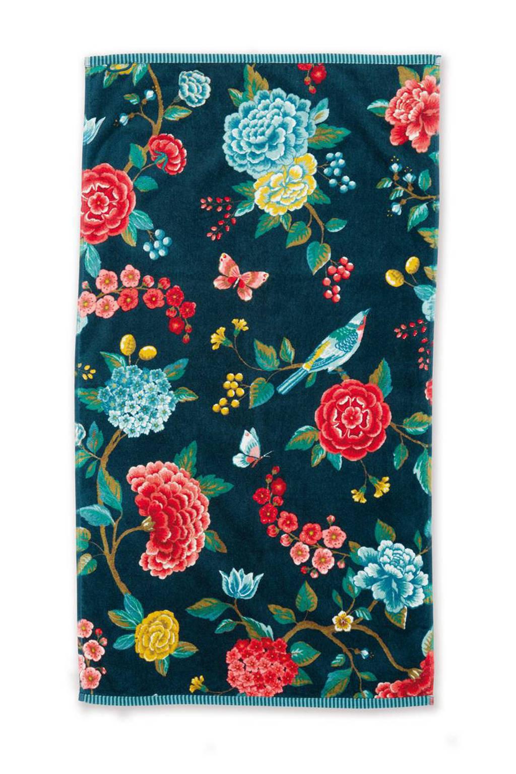 Pip Studio handdoek (100 x 55 cm) Donkerblauw