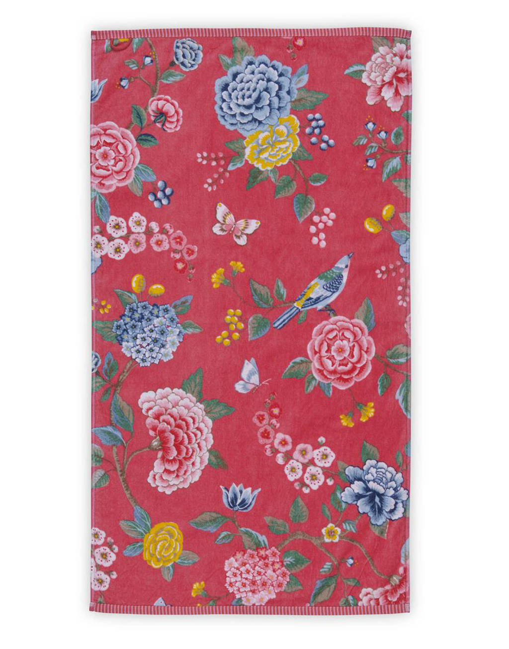 Pip Studio handdoek (100 x 55 cm) Koraalrood