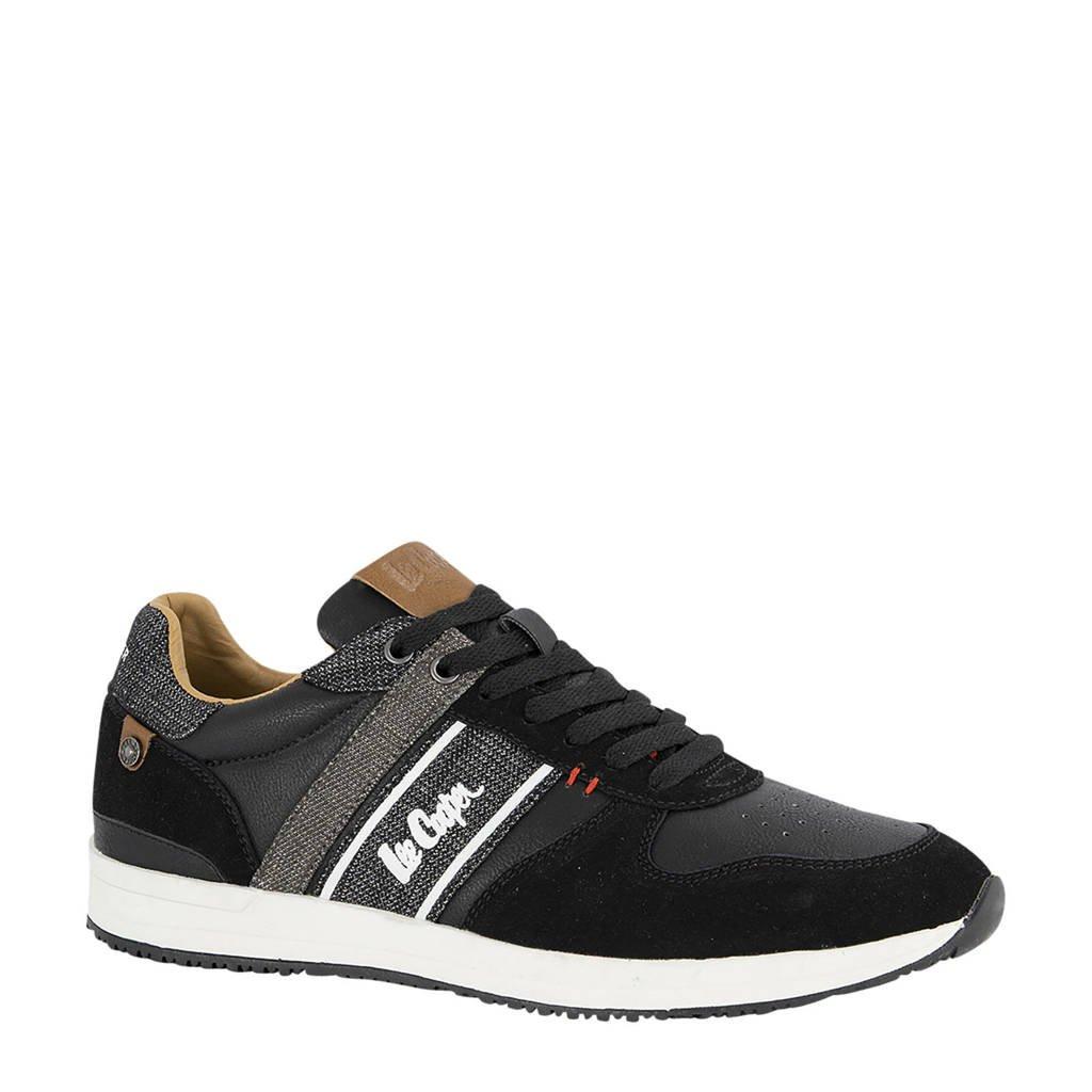 Lee Cooper Edgware  sneakers zwart, Zwart