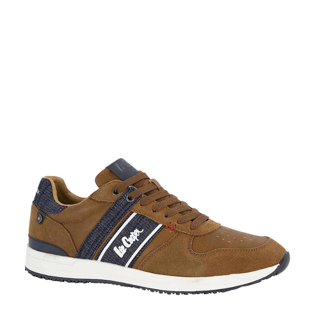 Lee Cooper Edgware  sneakers bruin, Bruin/blauw