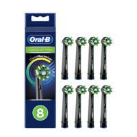 Oral-B  CrossAction opzetborstels (8 stuks), Zwart