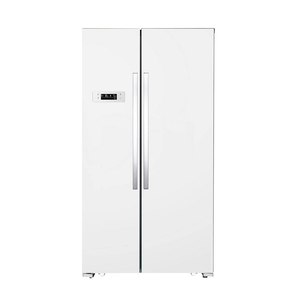 Exquisit SBS130-040FW amerikaanse koelkast, Wit