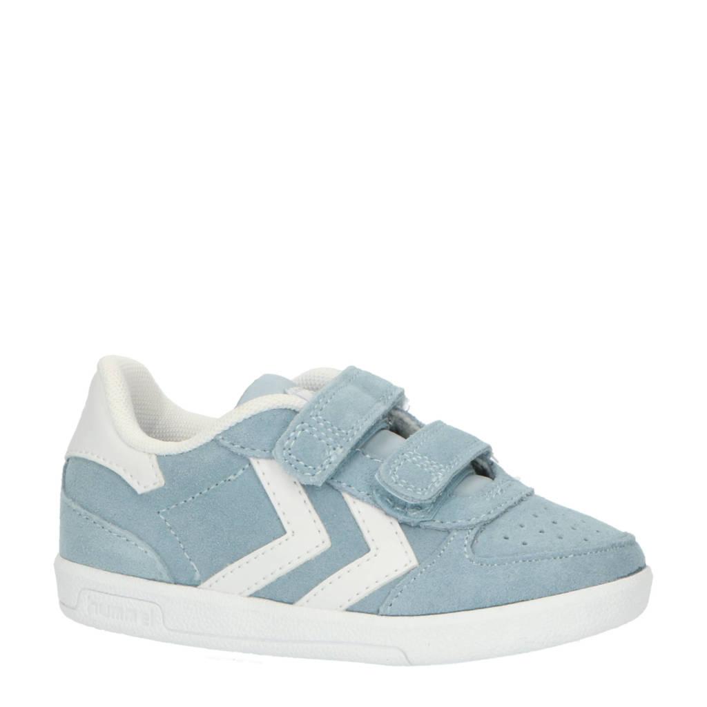 hummel Victory  sneakers lichtblauw/wit, Lichtblauw/wit