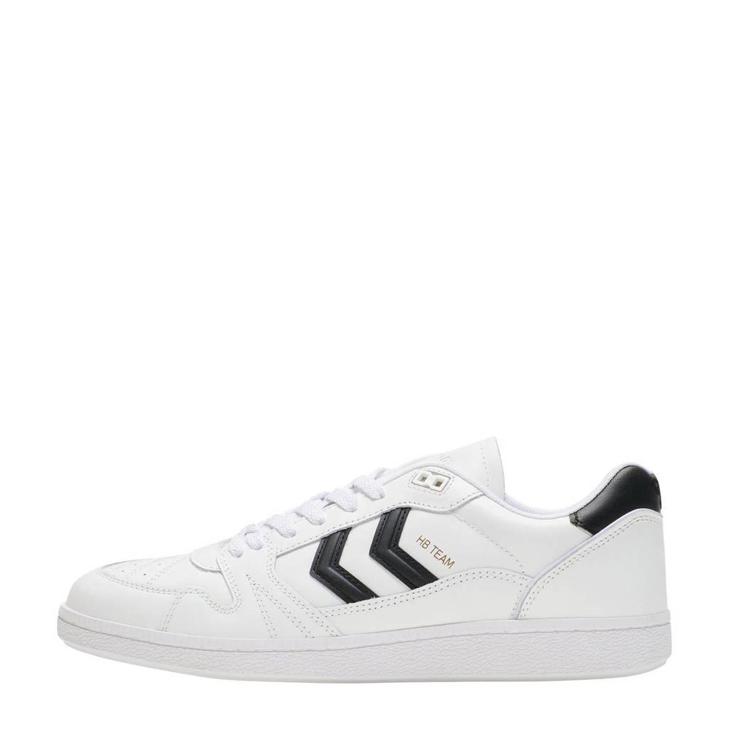 hummel HB Team Suede  sneakers wit/zwart, Wit/zwart