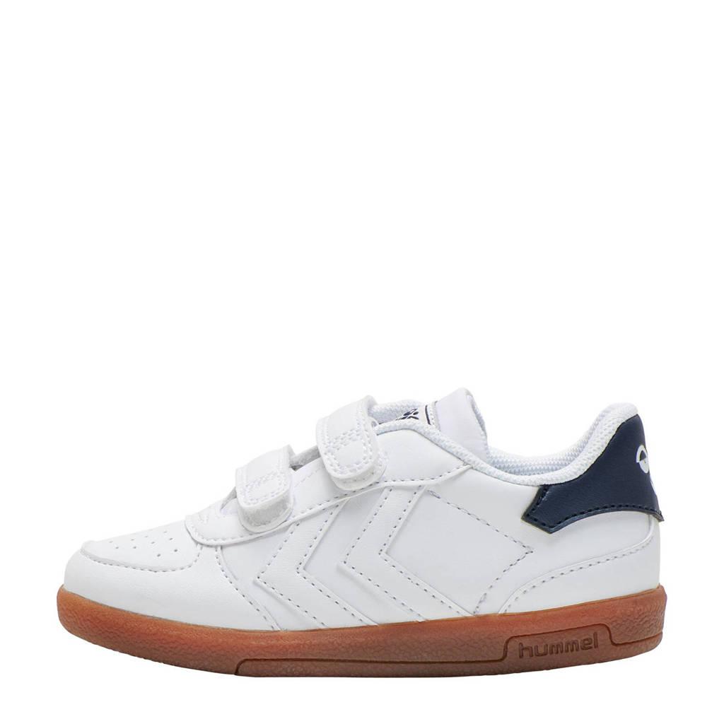 hummel Victory  sneakers wit, Wit/blauw/oranje
