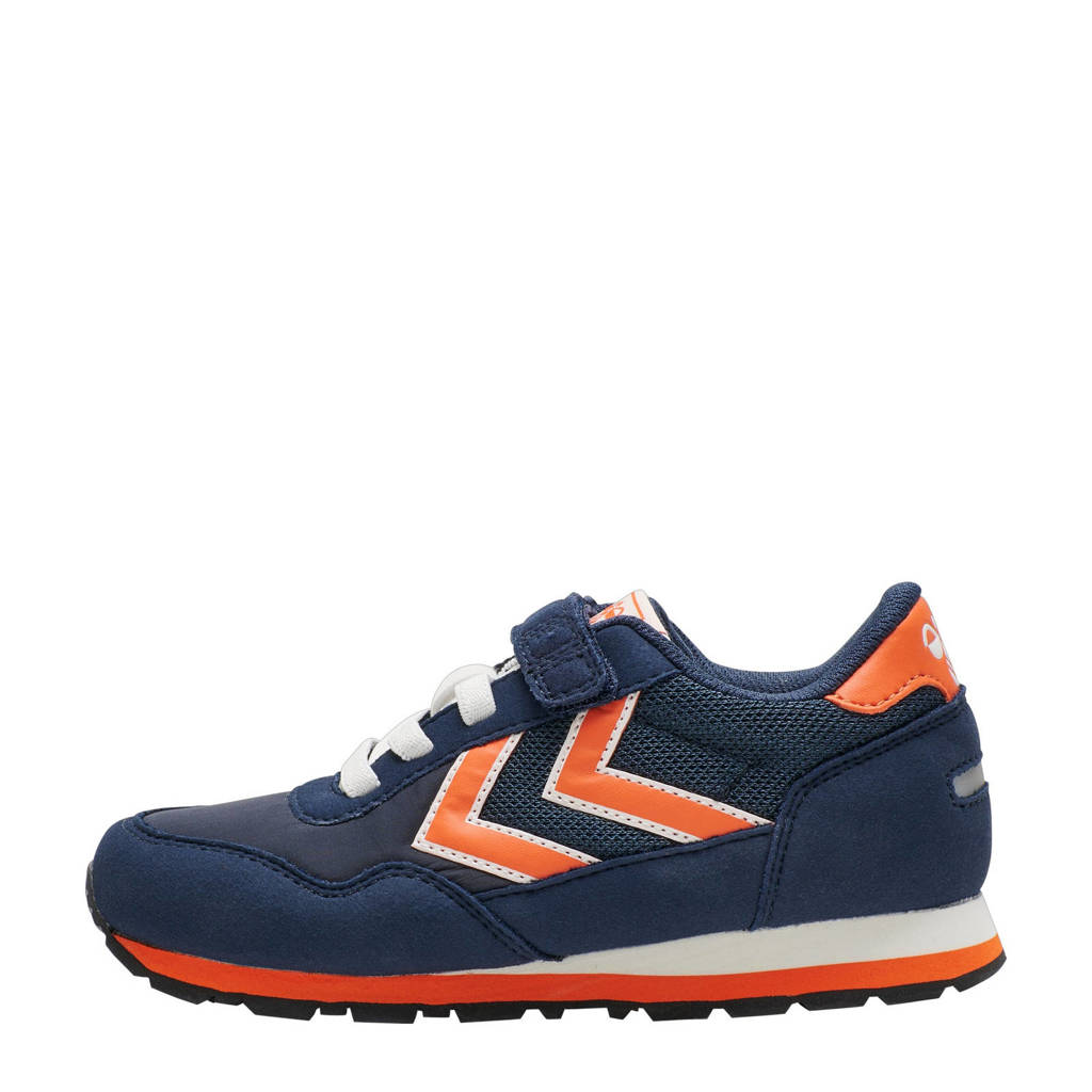 hummel Reflex  sneakers donkerblauw/oranje, Donkerblauw/oranje