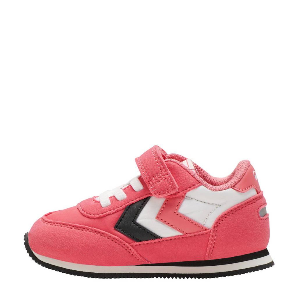 hummel Reflex  sneakers roze/wit/zwart, Roze/zwart/wit