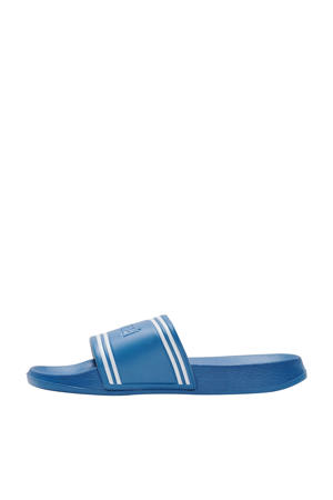 Pool Slide Retro  badslippers kobaltblauw/wit