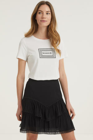 T-shirt met printopdruk off white