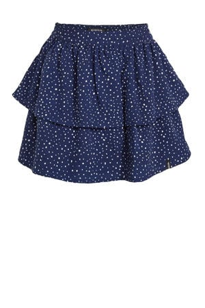 rok met stippen donkerblauw/wit