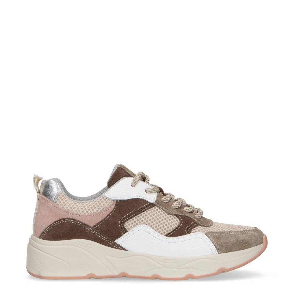 Sacha   suède sneakers beige/multi, Beige/multi