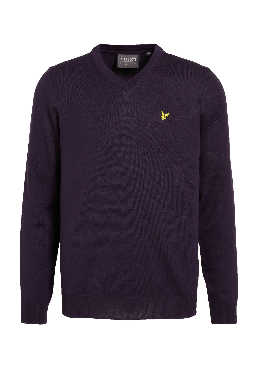 Lyle & Scott sweater donkerpaars, Donkerpaars