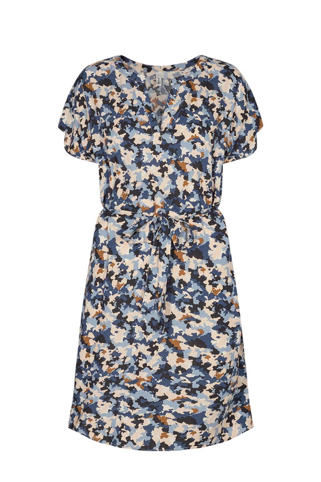 Soyaconcept jurk KALIMA met camouflageprint blauw/beige/bruin, Blauw/beige/bruin