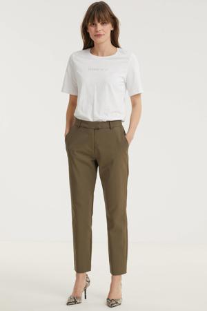straight fit pantalon Janika pants bruin