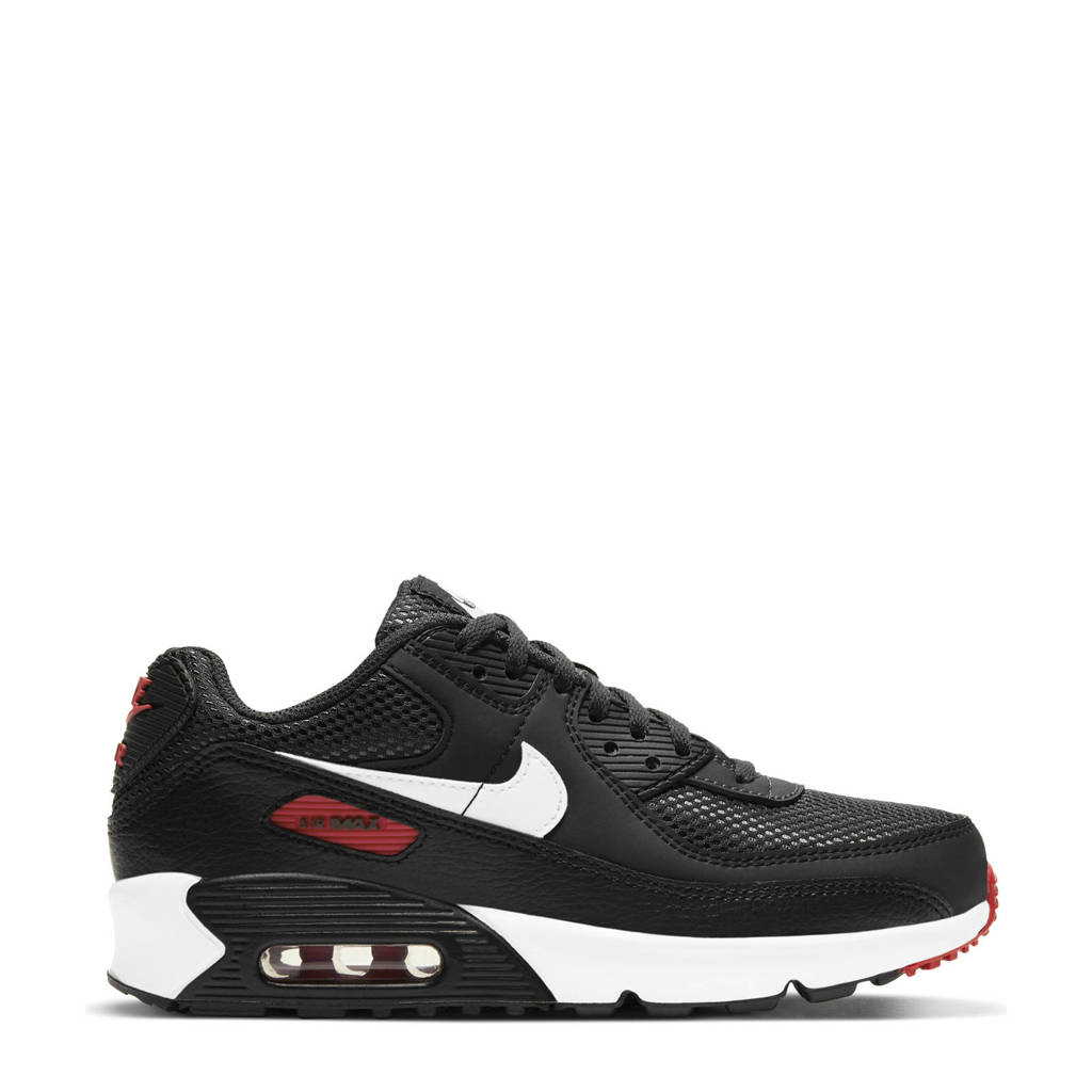 Nike Air Max 90 (GS) sneakers zwart/wit/rood, Zwart/wit/rood