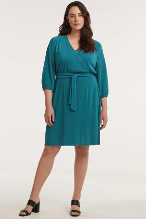 plissé jurk groen