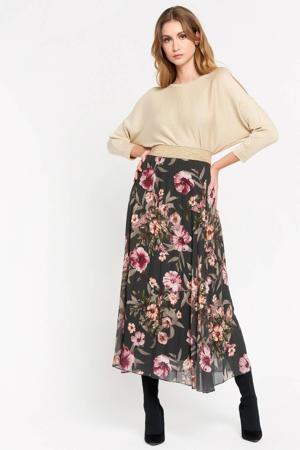 gebloemde rok donkergroen