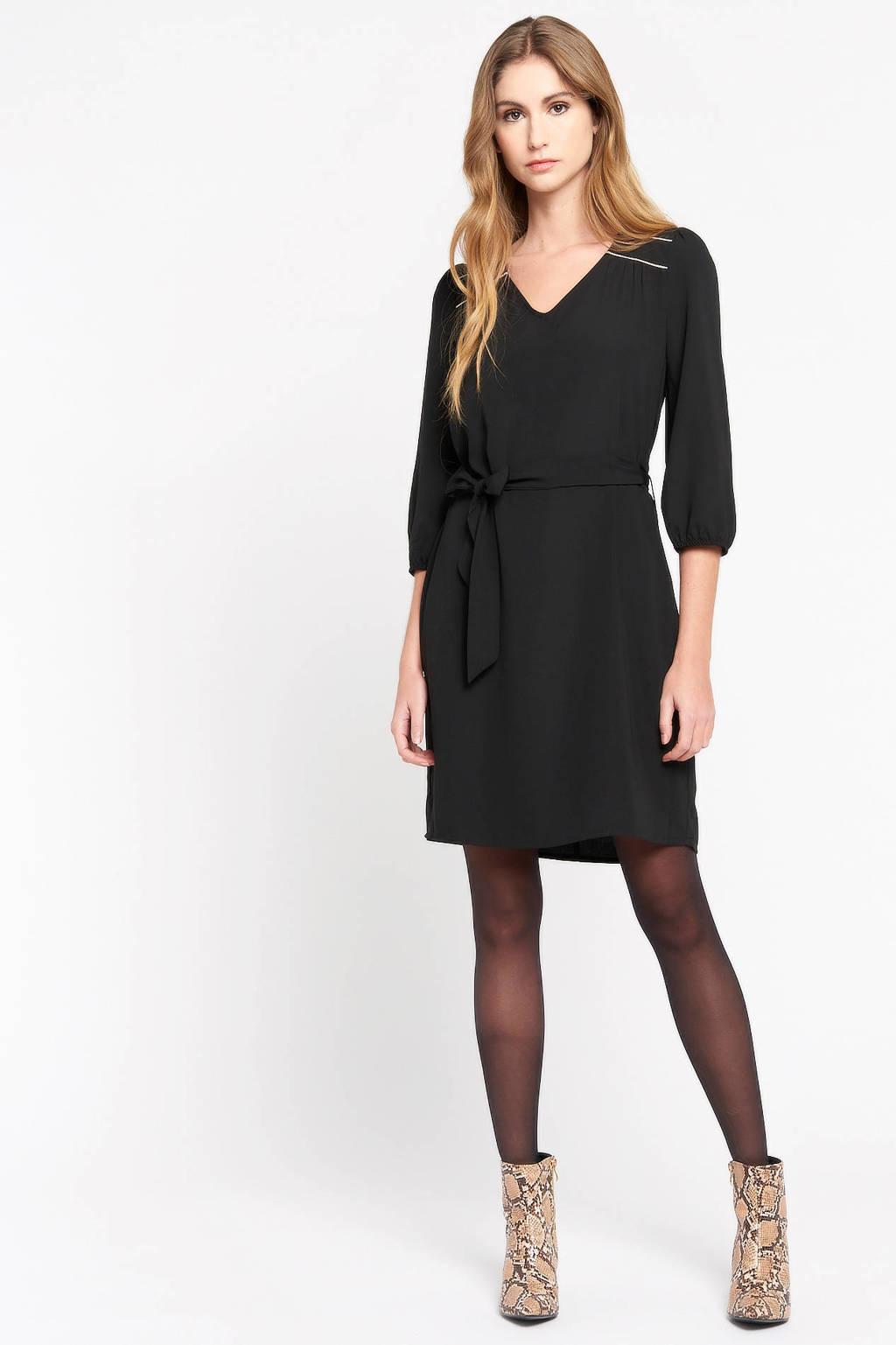 LOLALIZA jurk met ceintuur zwart, Zwart