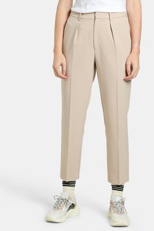 cropped slim fit broek Vita zand