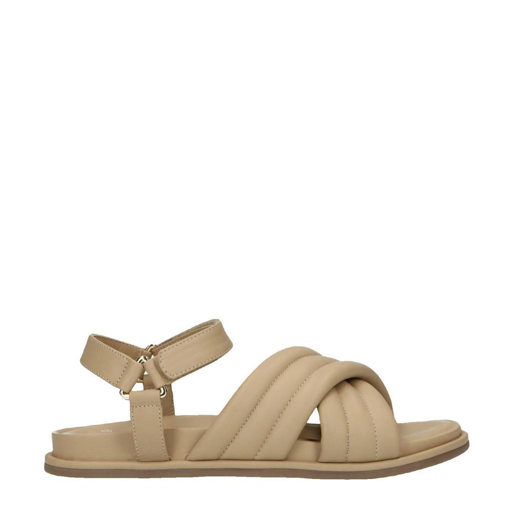 Manfield   leren sandalen beige, Beige