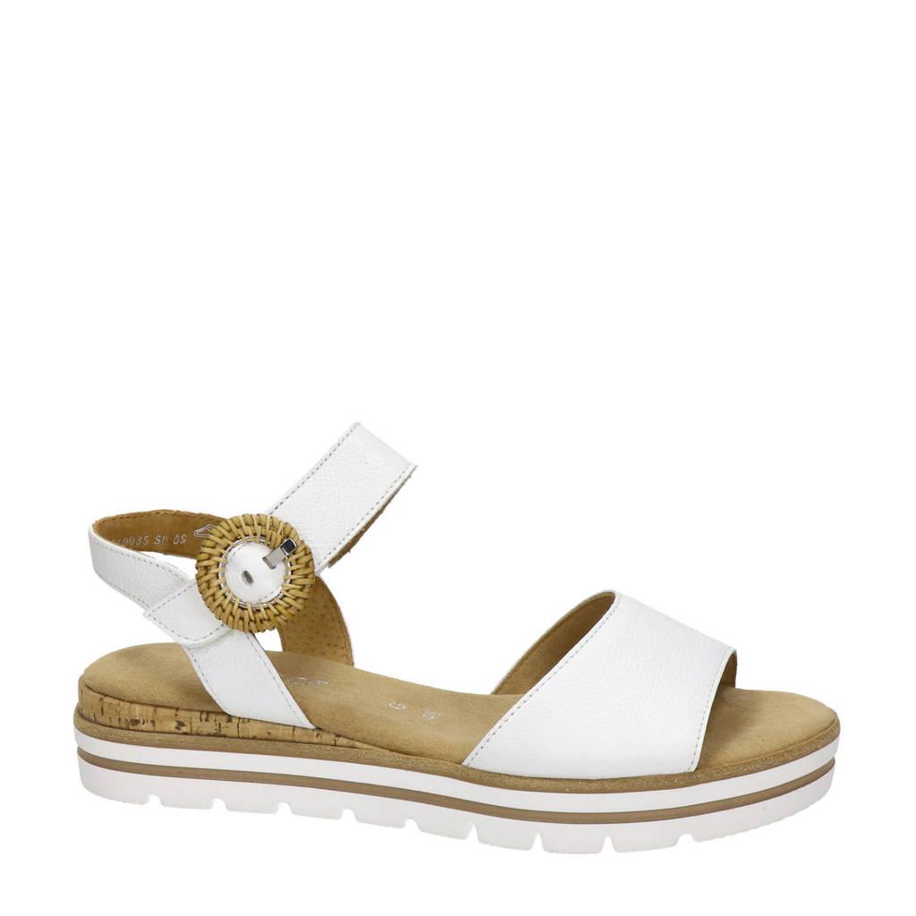 Gabor   leren sandalen wit, Wit