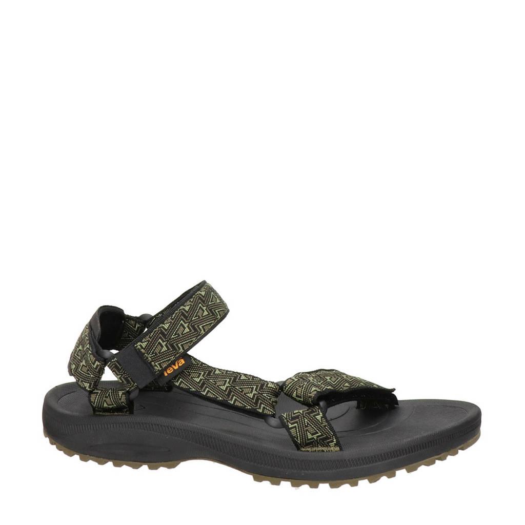 Teva Winsted  outdoor sandalen kaki/zwart, Kaki/zwart
