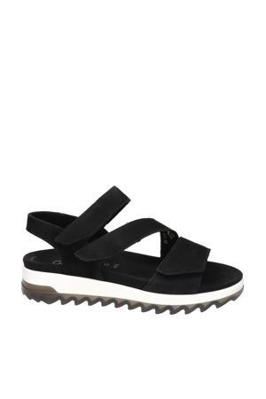 Florenz comfort nubuck sandalen zwart