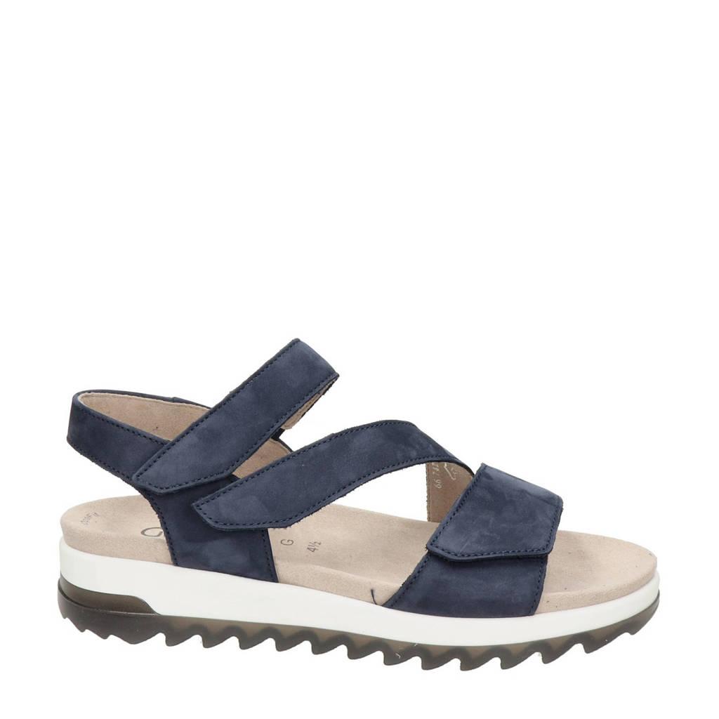 Gabor Florenz comfort nubuck sandalen blauw, Blauw