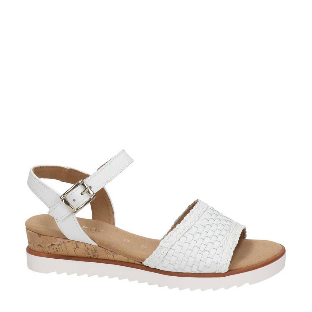 Gabor Genua  leren sandalen wit, Wit