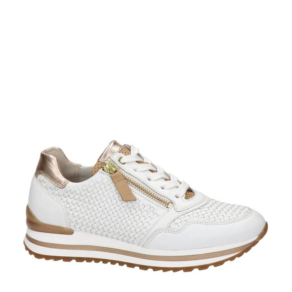 Gabor Turin  leren sneakers wit, Wit/goud