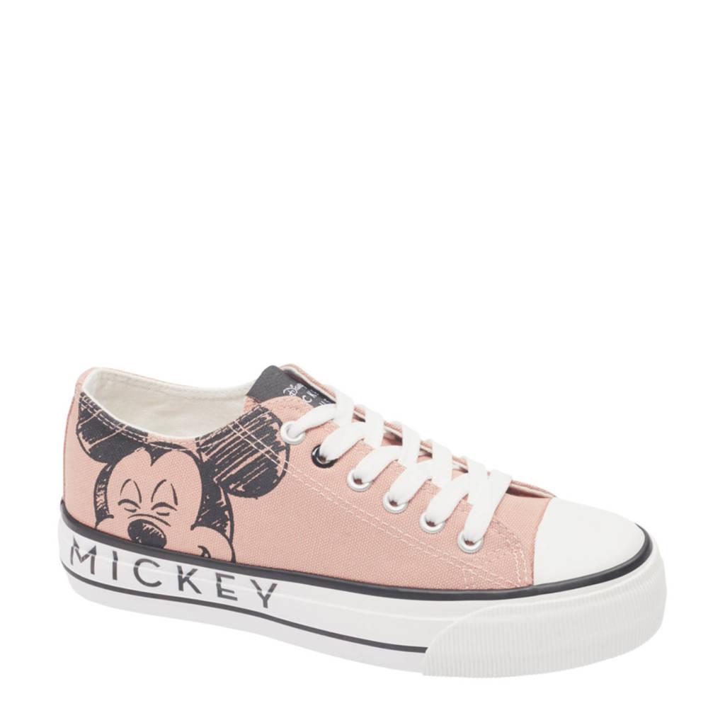 Disney Mickey Mouse  sneakers beige/zwart, Beige