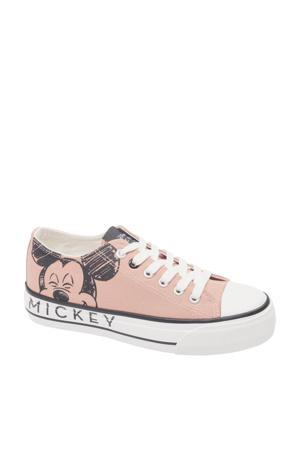 Mickey Mouse  sneakers beige/zwart
